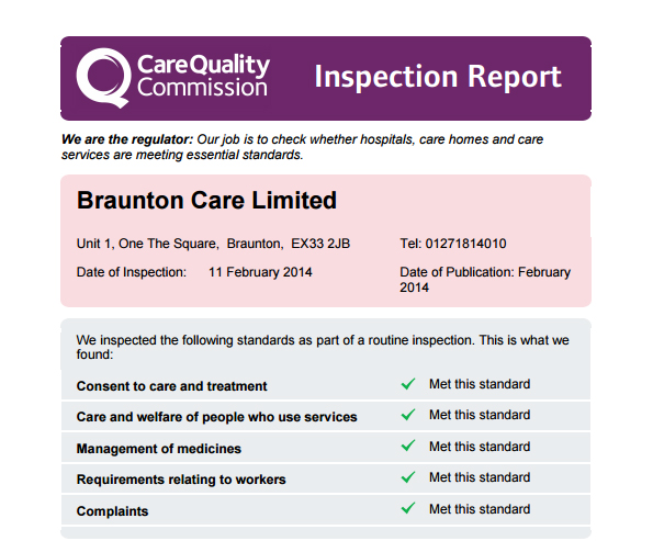 braunton-care-cqc-report-february-2014