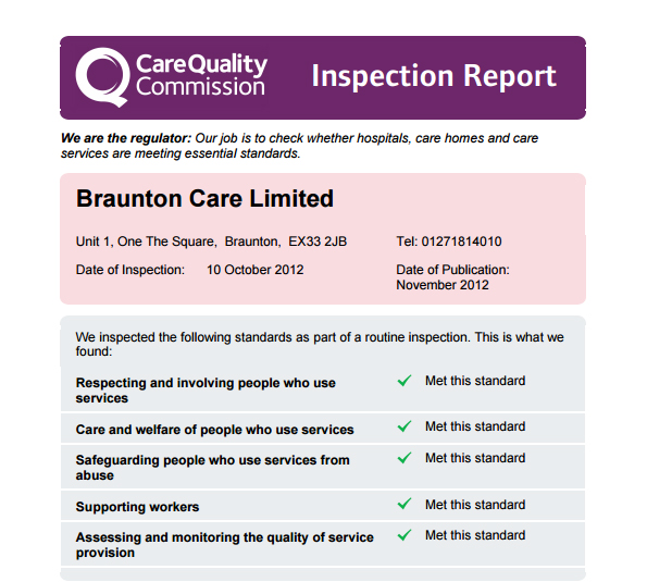 braunton-care-cqc-report-october-2012